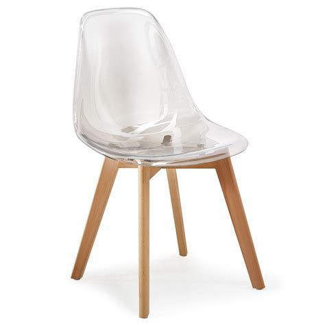 chaise scandinave transparente plexiglas lot de 4 pas