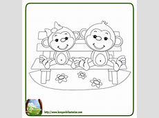 99 DIBUJOS DE MONOS ® Graciosos monos para colorear infantiles