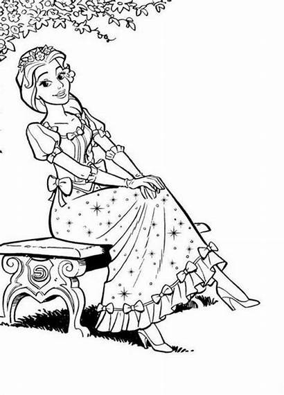 Coloring Pretty Pages Coloringhome Sitting Bench Popular