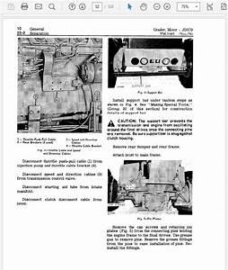 John Deere 570 And 570a Motor Grader Technical Manual