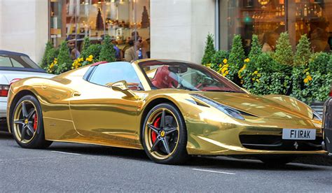 gold ferrari the gold supercars of london gold blog