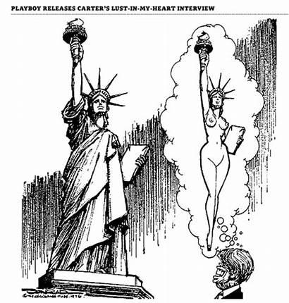 President Conrad Paul Cleanest Liberty Statue Cartoon