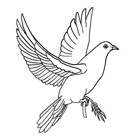 Vredesduif Kleurplaat by Leuk Voor Vredesduif