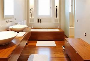 et pourquoi pas une salle de bain en bois astuces With salle de bain design avec décoration cerf en bois