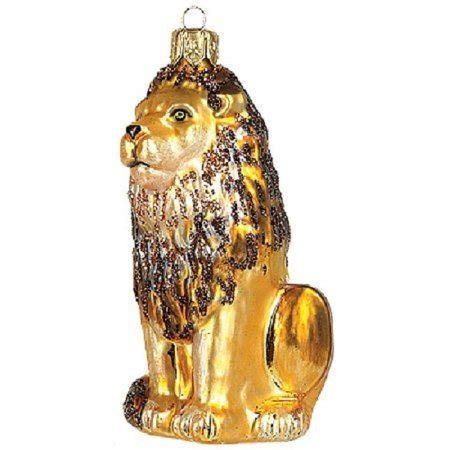 lion polish glass christmas ornament wildlife decoration