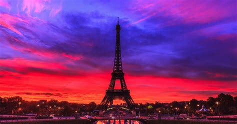Eiffel Tower At Sunrise,paris,france Stock Video Footage