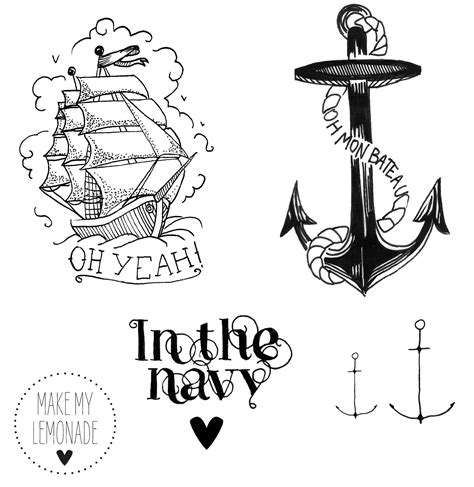 Signification Dessin Bateau by Tatouages In The Navy Marins Tatouages Et Bateaux