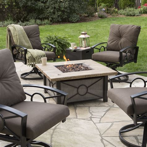 Red Ember Dillon Gas Fire Pit Table Chat Set  Fire Pits