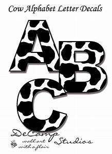 cow letters decal farm animal nursery wall art With nursery letter decals