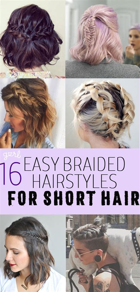 easy  cute braided hairstyles  short hair hair