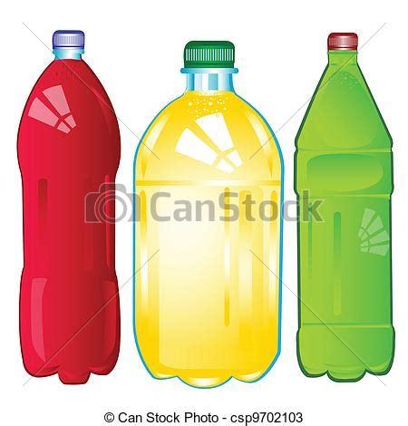 Agua carbonated color botellas misceláneo Agua vectores
