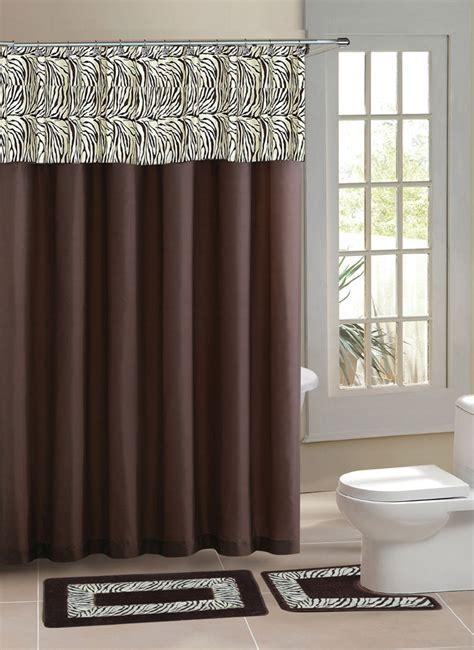 Contemporary Bath Shower Curtain 15 Pcs Modern Bathroom