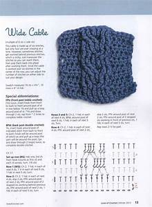 Image Result For Crochet Cable Stitch Diagram