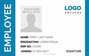 Id Card Template Word 5 Professional Designs
