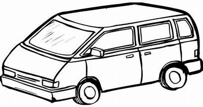 Van Coloring Pages Printable Drawing Transportation Vans