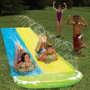 Tapis Vert D Eau : tapis de glisse eau double piste course glissade sur tapis aquatique pour le jardin super ~ Teatrodelosmanantiales.com Idées de Décoration