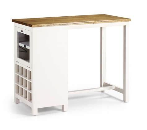 chambre à coucher en bois massif table de bar en bois blanc laqué avec range bouteilles