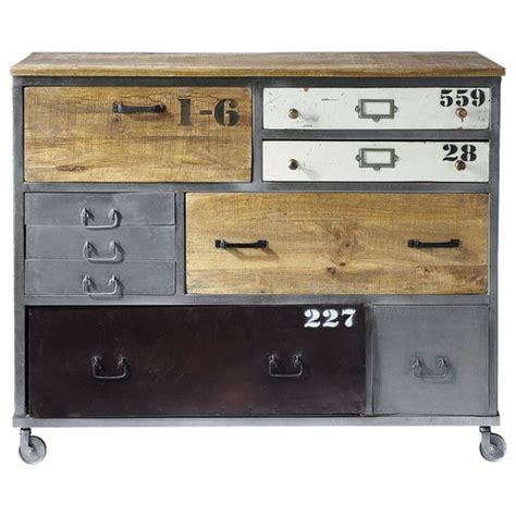 metal drawer chest on castors w 120cm lazare maisons du monde