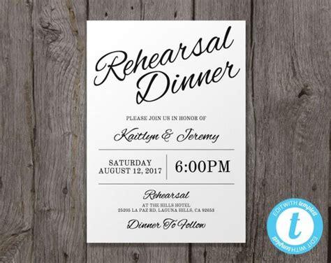 printable wedding rehearsal dinner invitation template