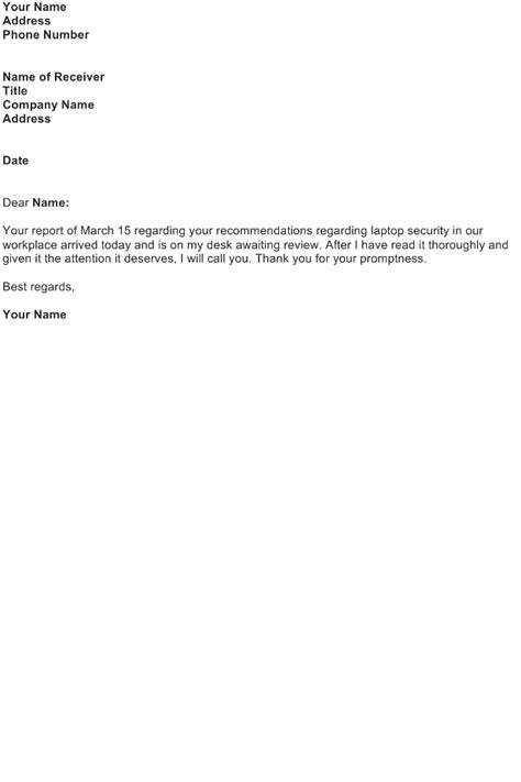 acknowledgement letter sample   business