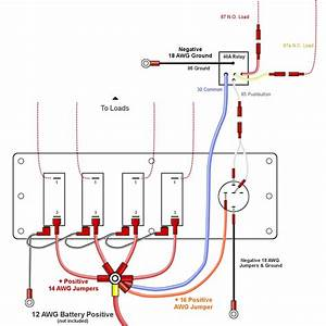 Push Button Wiring Diagram 4 Pin