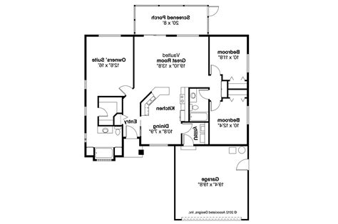 Ranch House Plans Open Floor Plan by Ranch House Plans Lamar 11 106 Associated Designs