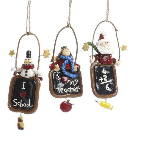 fimo clay teacher christmas ornament christmas ornaments