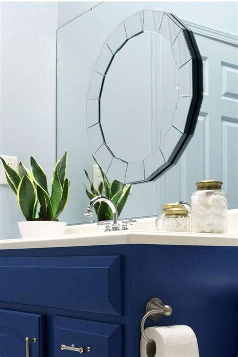 Builder Grade Bathroom Mirror by A Vs Builder Grade Bathroom Makeover Layering