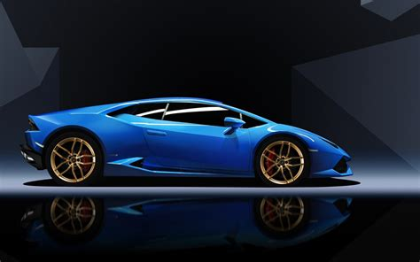 Black And Blue Car Wallpaper Hd by Blue Lamborghini Huracan Wallpaper Hd Car Wallpapers