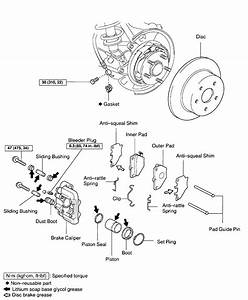 Brake Calipers  Rear - Diagram