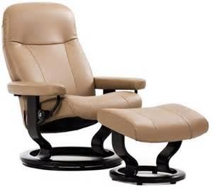 stressless garda recliner chair and ottoman by ekornes