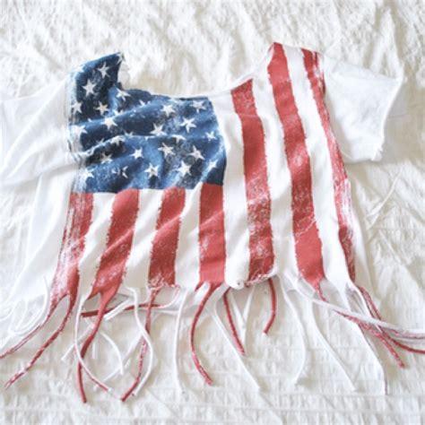 American Flag Fringe Shirt