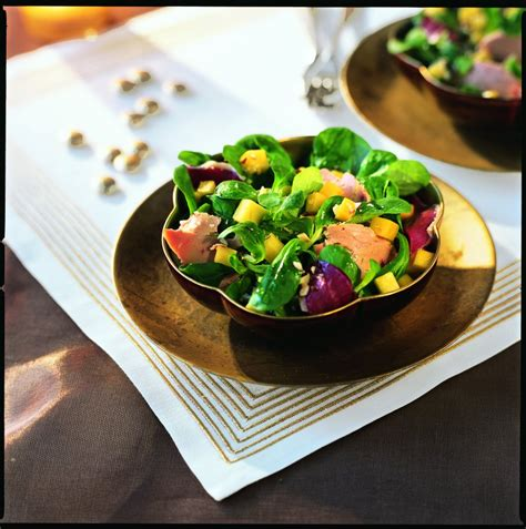 cuisine gasconne recette salade gasconne à la mangue