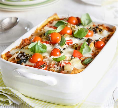 lighter vegetable lasagne good food