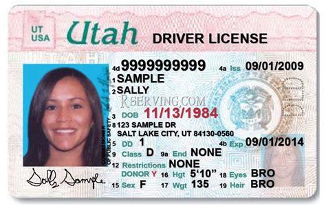 drivers license template mr mrs ulmer utah s driver s license