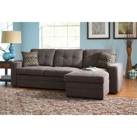 Sleeper Sofa With Storage by Coaster Chenille Sleeper Sofa With Storage In Charcoal And