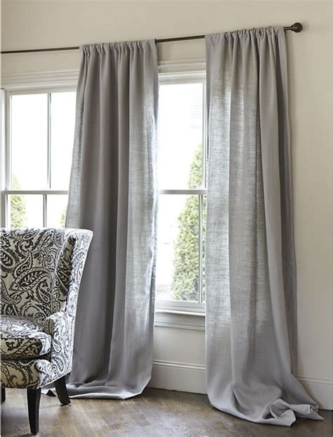 belgian linen drapery panel white 108 quot traditional