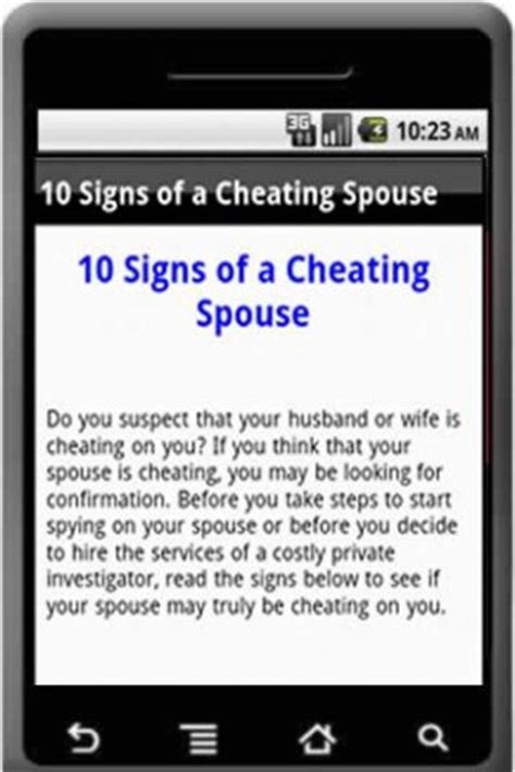 signs your spouse is download 10 signs a spouse is cheating for android appszoom