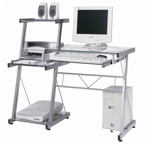 bureau informatique but bureau informatique verre galaxy matelpro gris transparent