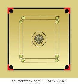 Free Carrom Board Template Design Stock Illustration