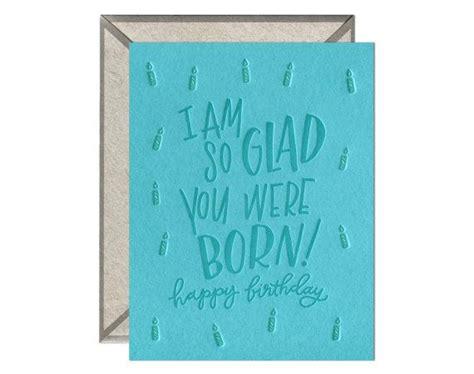 glad   born letterpress card  blank