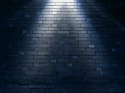 brick wall texture background  spotlight stock photo