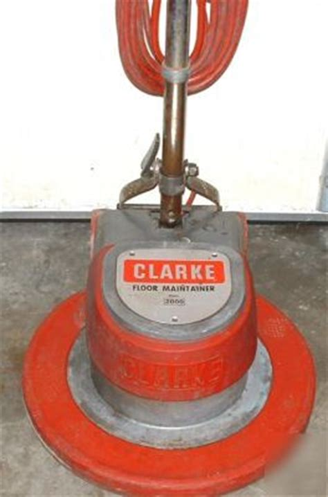 clarke floor buffer sander clarke fm 2000 floor maintainer buffer polisher sander