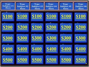 powerpoint review game templates With kids jeopardy template