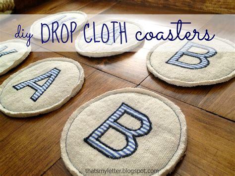drop cloth coasters jaime costiglio