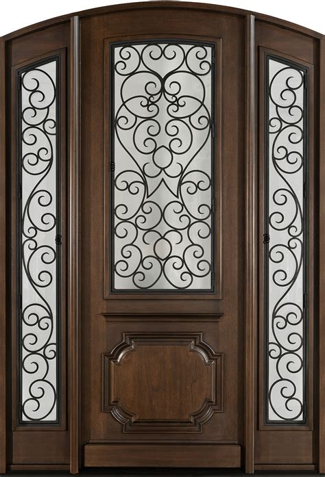 Wood Front Door With Door by Front Door Custom Single With 2 Sidelites Solid Wood