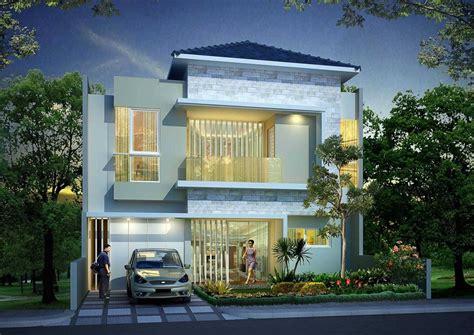 contoh desain rumah bagian depan modern klasik