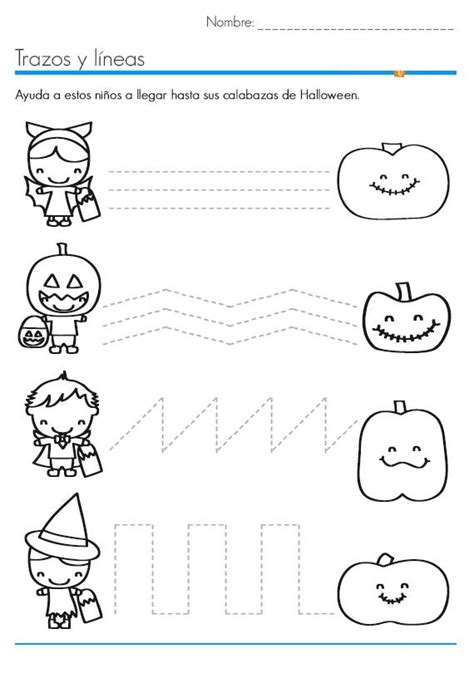 worksheets for crafts and worksheets for 518 | halloween trace line worksheet 3