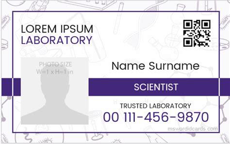 scientist id badge sample templates microsoft