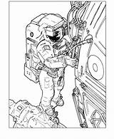 Astronaut Coloring Pages sketch template